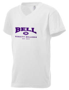 Bell Elementary School Bulldogs Kid's V-Neck Jersey T-Shirt