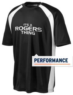 Rogers High School Rams Men's Dry Zone Colorblock T-Shirt