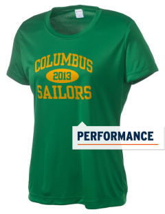 Columbus High School Sailors Women's Competitor Performance T-Shirt