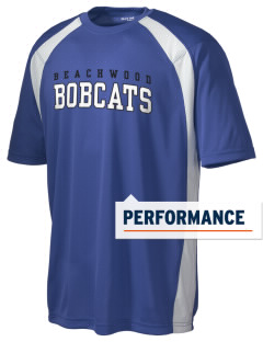 Beachwood Elementary School Bobcats Men's Dry Zone Colorblock T-Shirt