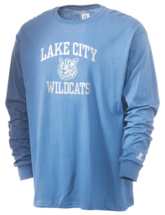 Lake City Elementary School Wildcats  Russell Men's Long Sleeve T-Shirt
