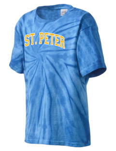 Saint Peter School Bobcats Kid's Tie-Dye T-Shirt