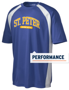Saint Peter School Bobcats Men's Dry Zone Colorblock T-Shirt
