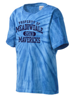 Meadowdale High School Mavericks Kid's Tie-Dye T-Shirt