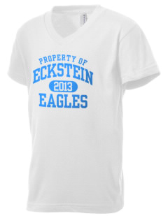 Eckstein Middle School Eagles Kid's V-Neck Jersey T-Shirt