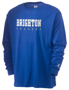 Brighton Elementary School Dragons  Russell Men's Long Sleeve T-Shirt
