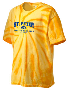 Saint Peter School Chargers Kid's Tie-Dye T-Shirt