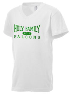 Holy Family School Falcons Kid's V-Neck Jersey T-Shirt