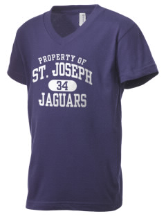 Saint Joseph School Jaguars Kid's V-Neck Jersey T-Shirt