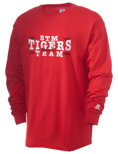 Saint Thomas More Elementary School Tigers  Russell Men's Long Sleeve T-Shirt