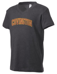 Covington Junior High School Covington Colts Kid's V-Neck Jersey T-Shirt