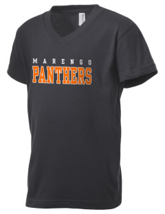 Marengo High School Panthers Kid's V-Neck Jersey T-Shirt