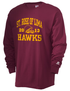 Saint Rose Of Lima School Hawks  Russell Men's Long Sleeve T-Shirt