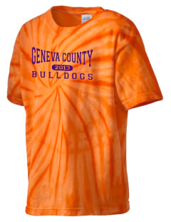 Geneva County High School Bulldogs Kid's Tie-Dye T-Shirt