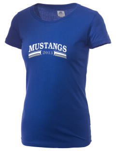 Our Redeemer Lutheran School Mustangs  Russell Women's Campus T-Shirt