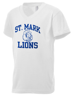 Saint Mark Lutheran School Lions Kid's V-Neck Jersey T-Shirt