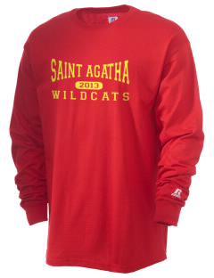 Saint Agatha Catholic School Wildcats  Russell Men's Long Sleeve T-Shirt