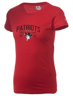 Prince Of Peace Lutheran School Patriots  Russell Women's Campus T-Shirt