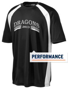 New Age Academy Learning Institute Dragons Men's Dry Zone Colorblock T-Shirt