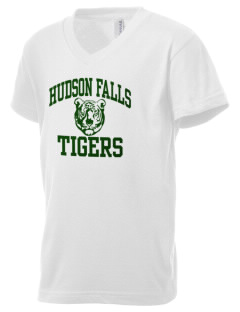 Hudson Falls Central School Tigers Kid's V-Neck Jersey T-Shirt