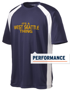 West Seattle High School Indians Men's Dry Zone Colorblock T-Shirt