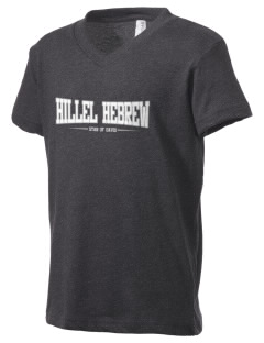 Hillel Hebrew Academy Star Of David Kid's V-Neck Jersey T-Shirt