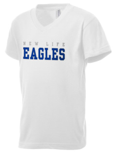 New Life Academy Eagles Kid's V-Neck Jersey T-Shirt