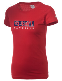 Christian Senior High School Patriots  Russell Women's Campus T-Shirt