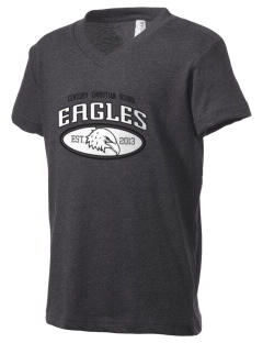 Century Christian School Eagles Kid's V-Neck Jersey T-Shirt