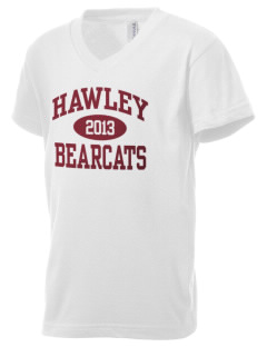 Hawley Middle School Bearcats Kid's V-Neck Jersey T-Shirt