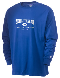 Zion Lutheran School Vikings  Russell Men's Long Sleeve T-Shirt