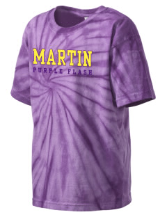Martin High School Purple Flash Kid's Tie-Dye T-Shirt