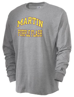 Martin High School Purple Flash  Russell Men's Long Sleeve T-Shirt