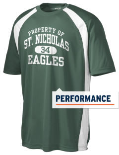 Saint Nicholas Catholic School Eagles Men's Dry Zone Colorblock T-Shirt