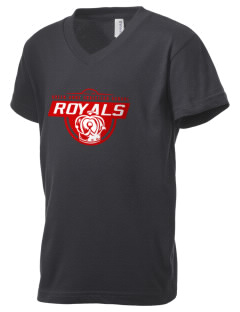 Queen Anne Christian School Royals Kid's V-Neck Jersey T-Shirt
