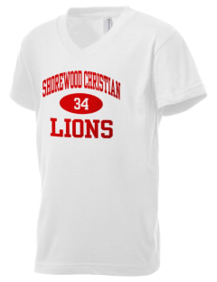 Shorewood Christian School Lions Kid's V-Neck Jersey T-Shirt