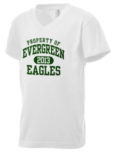 Evergreen Academy Eagles Kid's V-Neck Jersey T-Shirt