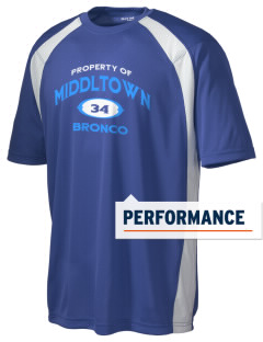 Middltown Middle School bronco Men's Dry Zone Colorblock T-Shirt