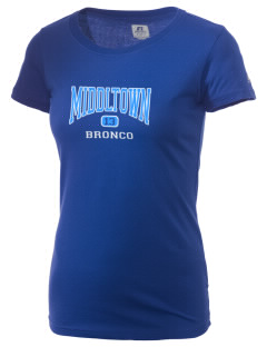 Middltown Middle School bronco  Russell Women's Campus T-Shirt