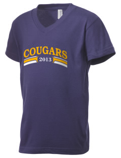 Youth Center Detention Facility Cougars Kid's V-Neck Jersey T-Shirt