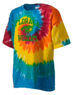 Florala High School Wildcats Kid's Tie-Dye T-Shirt