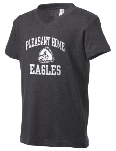Pleasant Home School Eagles Kid's V-Neck Jersey T-Shirt