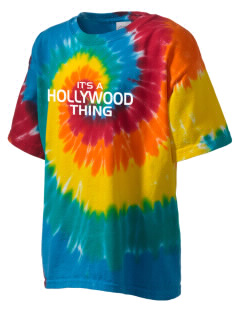 Hollywood Elementary School Hawks Kid's Tie-Dye T-Shirt