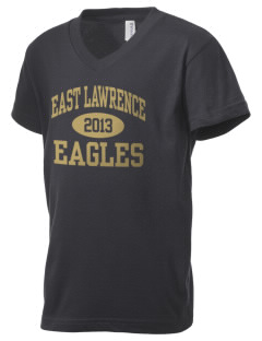East Lawrence High School Eagles Kid's V-Neck Jersey T-Shirt