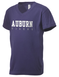 Auburn High School Tigers Kid's V-Neck Jersey T-Shirt