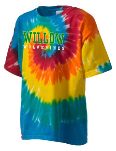 Willow Elementary School Wolverines Kid's Tie-Dye T-Shirt