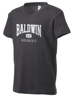 Baldwin Academy Braves Kid's V-Neck Jersey T-Shirt