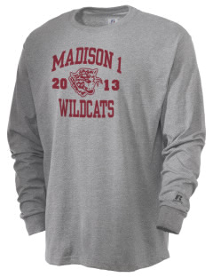 Madison 1 Middle School Wildcats  Russell Men's Long Sleeve T-Shirt