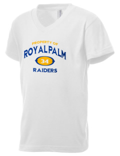 Royal Palm Junior High School Raiders Kid's V-Neck Jersey T-Shirt