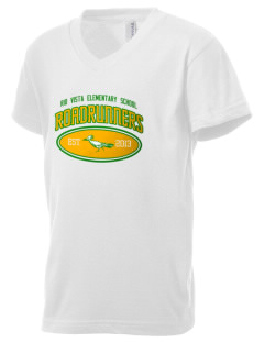 Rio Vista Elementary School Roadrunners Kid's V-Neck Jersey T-Shirt